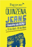 Jeans no Freeport com campanha multimeios