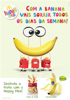 Bananas chegam ao Happy Meal