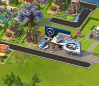 Mercedes Classe A acelera em SimCity Social