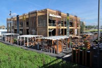 McDonalds shares an advanced look at its flagship Olympic Park restaurant for London 2012 designed to be reusable and recyclable after the Games 1