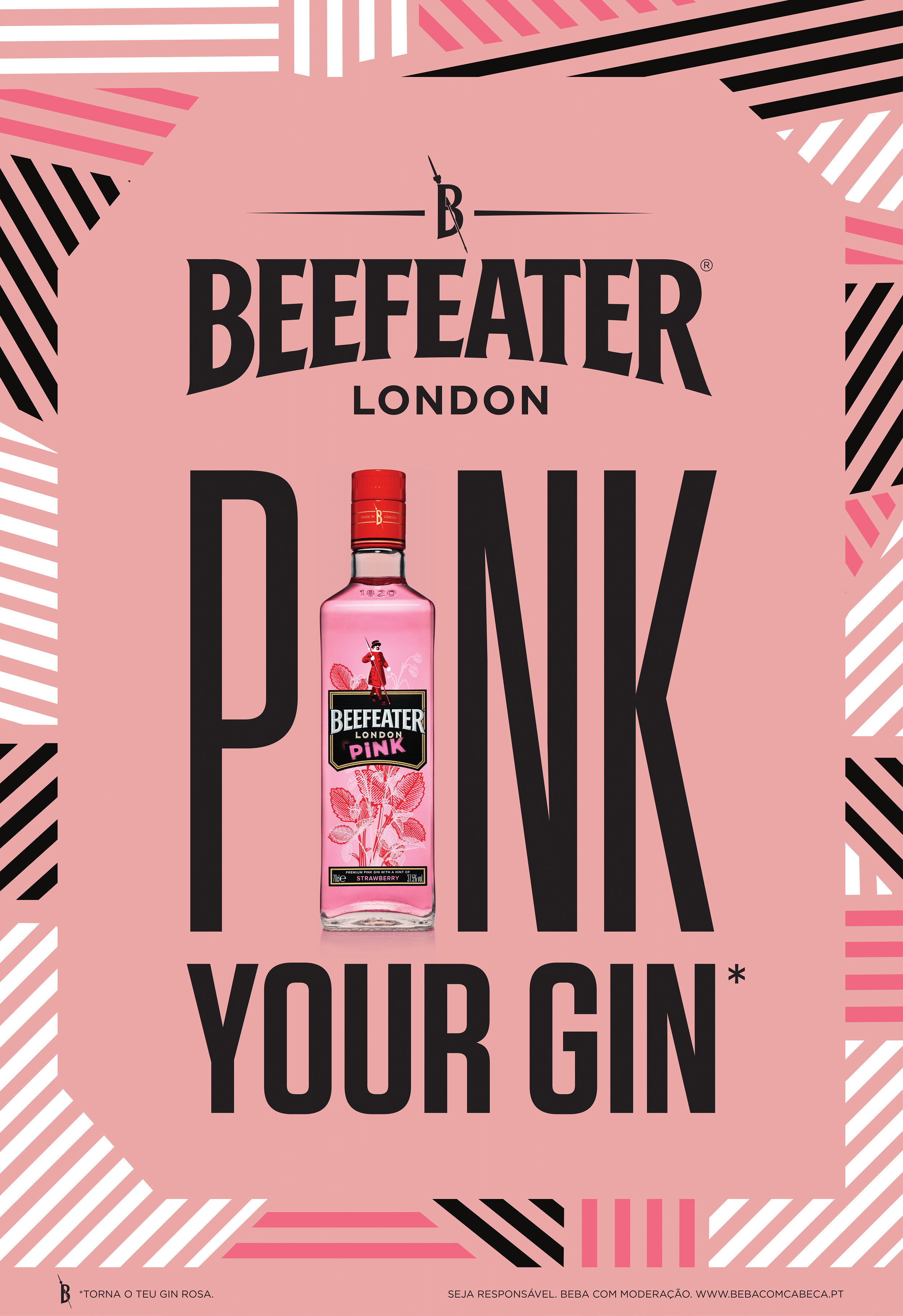 """Pink Your Gin"" com Beefeater"