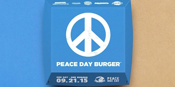 A Burger King insiste: E se for o hambúrguer do Dia da Paz?