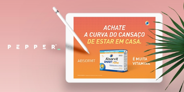 Vitaminas Absorvit Smart tomam-se com Pepper