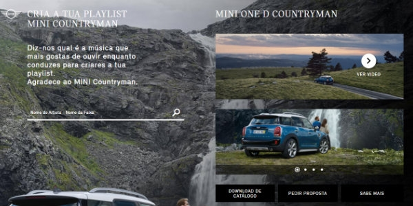 MINI Countryman toma Initiative no Spotify