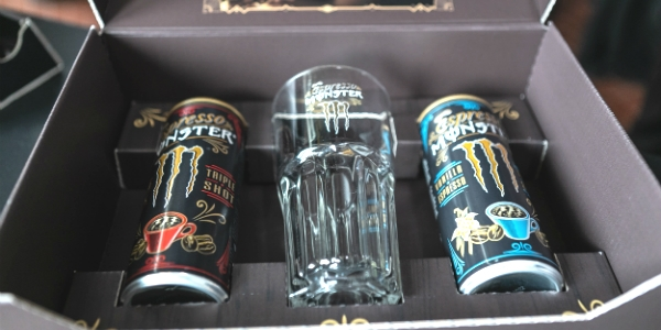 Café pronto a beber tem Monster Energy