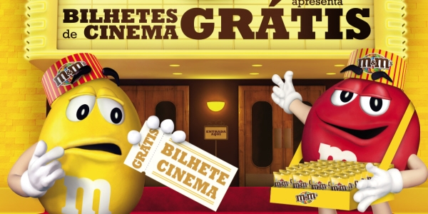 "Vá ao cinema ""à boleia"" da M&M's"