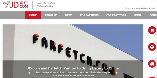 JD.com e Farfetch juntas na China