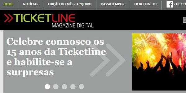 Ticketline Magazine estreia-se online