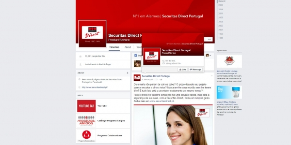 Pepper segura Securitas Direct nas redes sociais