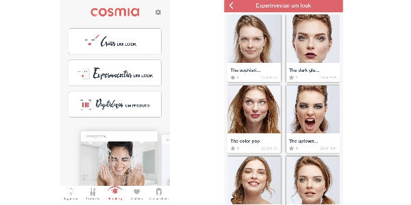 Auchan faz Cosmia Make Up via App